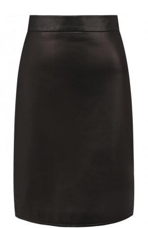 Однотонная кожаная мини-юбка Tom Ford. Цвет: черный
