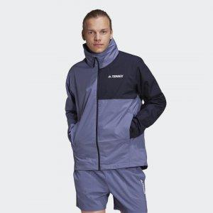 Куртка-дождевик Terrex Multi RAIN.RDY Primegreen adidas. Цвет: синий