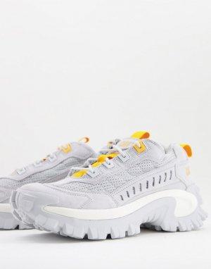 Белые кроссовки с оранжевыми вставками Caterpillar Intruder Vent-Белый Cat Footwear