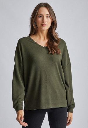 Пуловер Dorothy Perkins. Цвет: хаки