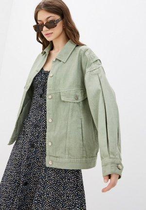 Куртка джинсовая Sela. Цвет: зеленый