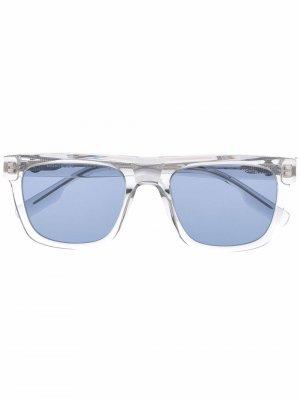 Солнцезащитные очки в квадратной оправе Montblanc. Цвет: нейтральные цвета