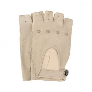 Замшевые перчатки Giorgio Armani. Цвет: бежевый