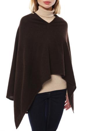 Пончо Mir cashmere. Цвет: темно-коричневый