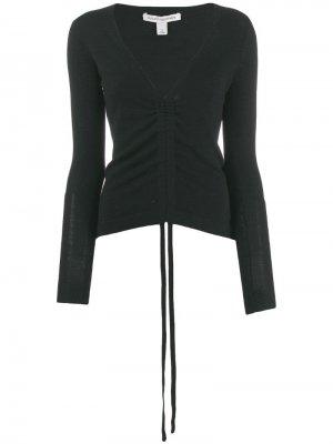 Кашемировый свитер с драпировкой Autumn Cashmere. Цвет: черный