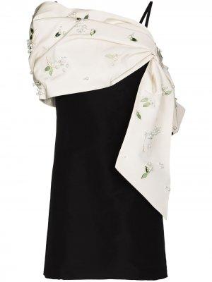 Платье мини с бантом Carolina Herrera. Цвет: белый