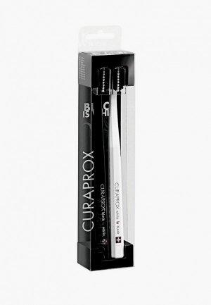 Комплект зубных щеток Curaprox White Is Black. Цвет: разноцветный