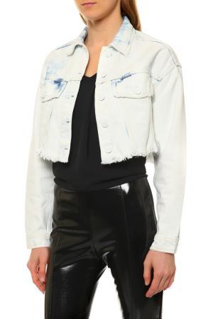 Джинсовая куртка Pinko. Цвет: белый