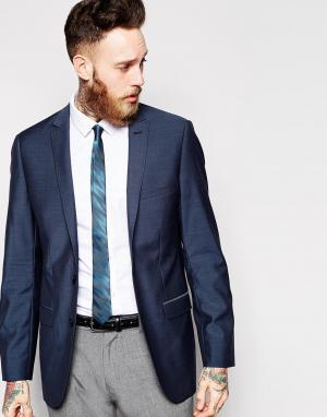 Приталенный пиджак с застежкой на 2 пуговицы Esprit. Цвет: синий