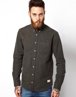 Оксфордская рубашка Hunter Libertine. Цвет: темно-оливковый