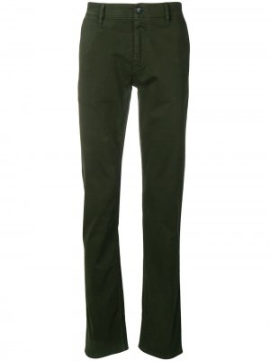 Классические брюки чинос BOSS. Цвет: зеленый