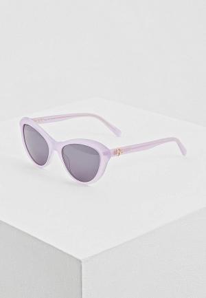 Очки солнцезащитные Love Moschino MOL015/S 789. Цвет: фиолетовый