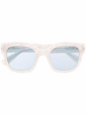 Солнцезащитные очки в квадратной оправе AMIRI. Цвет: белый