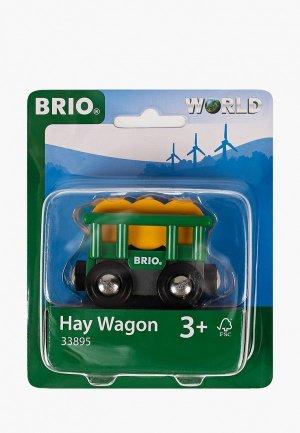 Набор игровой Brio Вагончик с сеном. Цвет: зеленый