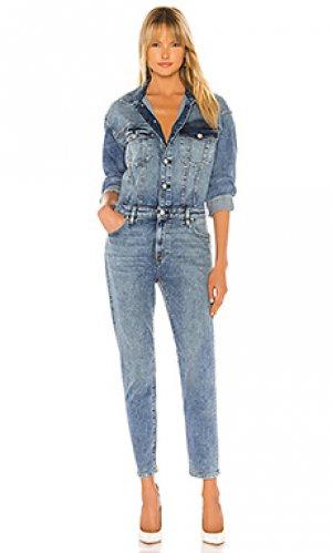 Джинсовый комбинезон Hudson Jeans. Цвет: синий
