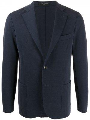 Однобортный пиджак Frankie Morello. Цвет: синий