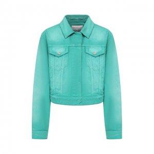 Джинсовая куртка Kenzo. Цвет: зелёный