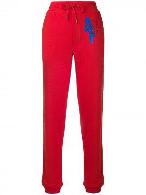 Спортивные брюки с логотипом A.F.Vandevorst. Цвет: красный