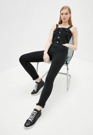 Комбинезон джинсовый Karl Lagerfeld Denim. Цвет: черный