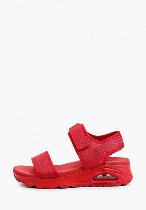 Сандалии Skechers UNO. Цвет: красный