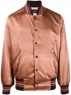 Куртка-бомбер Needles. Цвет: коричневый
