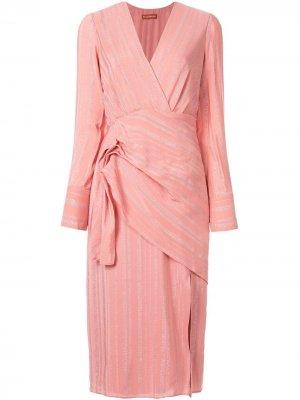 Платье Lame с запахом Altuzarra. Цвет: розовый