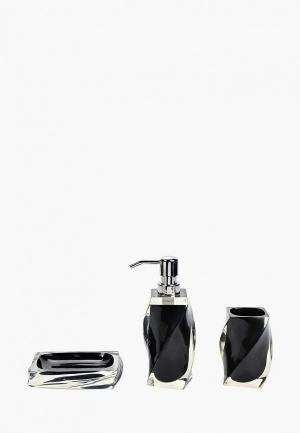 Набор аксессуаров для ванной Sofi De Marko. Цвет: черный