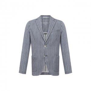Хлопковый пиджак Circolo 1901. Цвет: голубой