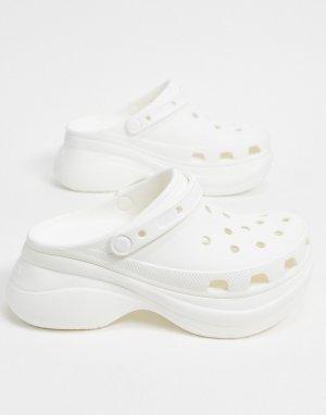 Белые клоги на платформе Bae-Белый Crocs