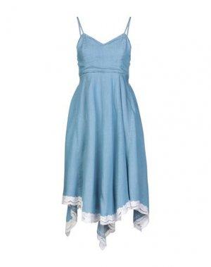 Платье до колена FRACOMINA. Цвет: синий