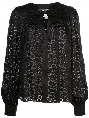 Блузка Rhida с принтом Alexis. Цвет: черный