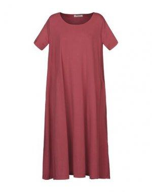 Платье до колена MAMA B.. Цвет: кирпично-красный