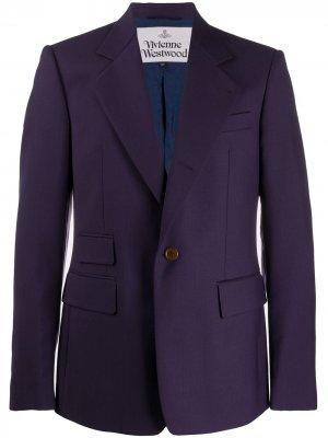 Однобортный пиджак узкого кроя Vivienne Westwood. Цвет: синий
