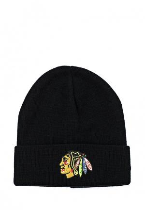 Шапка Atributika & Club™ NHL Chicago Blackhawks. Цвет: черный