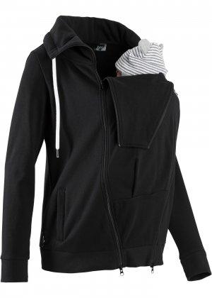 Куртка со вставкой для малыша bonprix. Цвет: черный