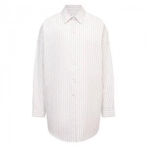 Хлопковая рубашка Iro. Цвет: бежевый