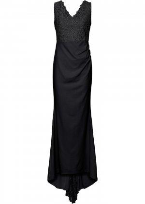 Платье свадебное bonprix. Цвет: черный