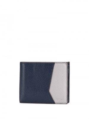 Бумажник с контрастными вставками Furla. Цвет: синий