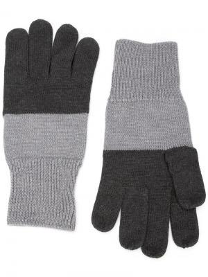 Двухцветные перчатки Maison Margiela. Цвет: серый