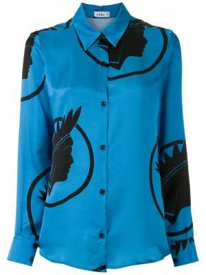 Рубашка с принтом Índio Amir Slama. Цвет: синий