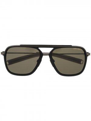 Солнцезащитные очки-авиаторы Lancier Dita Eyewear. Цвет: черный