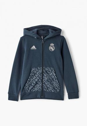 Толстовка adidas REAL KIDS FZHD. Цвет: серый