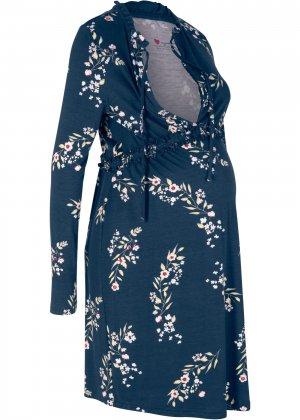 Платье для беременных и кормящих мам bonprix. Цвет: синий
