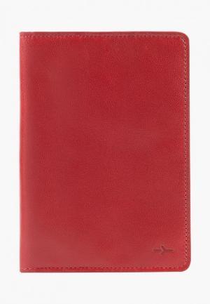 Обложка для паспорта Igor York. Цвет: красный