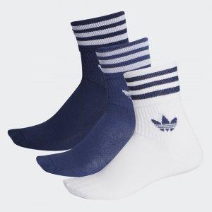 Три пары носков Crew Mid-Cut Originals adidas. Цвет: белый
