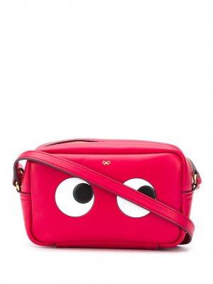 Мини-сумка через плечо Eyes Anya Hindmarch. Цвет: красный