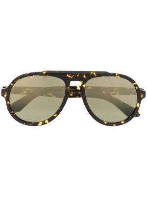 Солнцезащитные очки-авиаторы в оправе черепаховой расцветки Jimmy Choo Eyewear. Цвет: коричневый