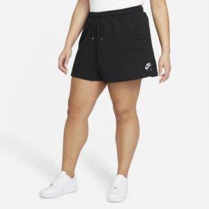 Женские флисовые шорты Air (большие размеры) - Черный Nike