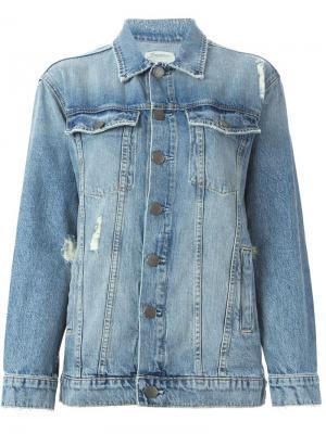 Джинсовая куртка на пуговицах Current/Elliott. Цвет: синий