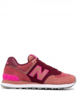 Кроссовки 574 со вставками New Balance. Цвет: красный